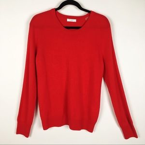 Equipment Red Cashmere Sloane Sweater Large